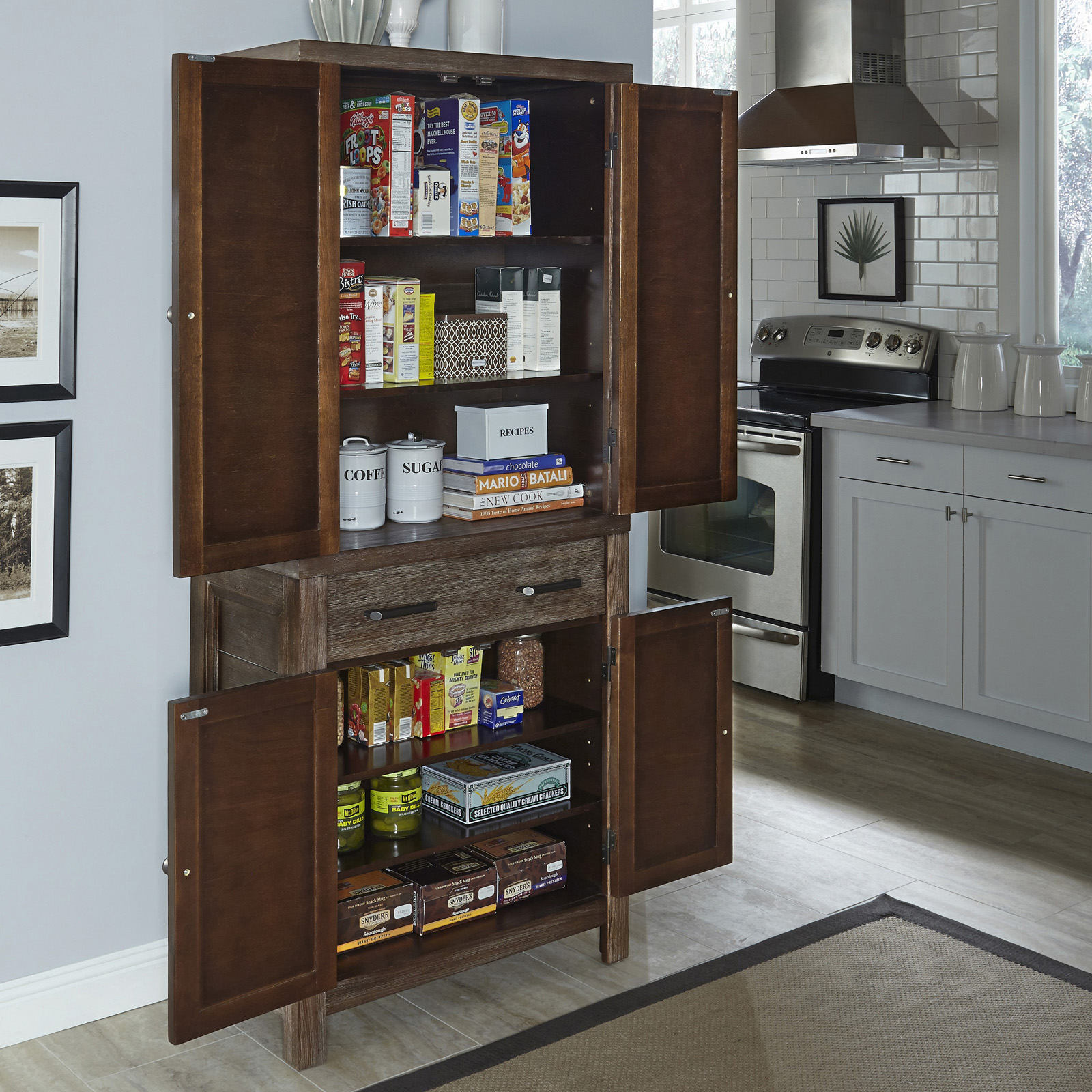 kitchen with pantry cabinet island tables home styles barnside cabinets at hayneedle