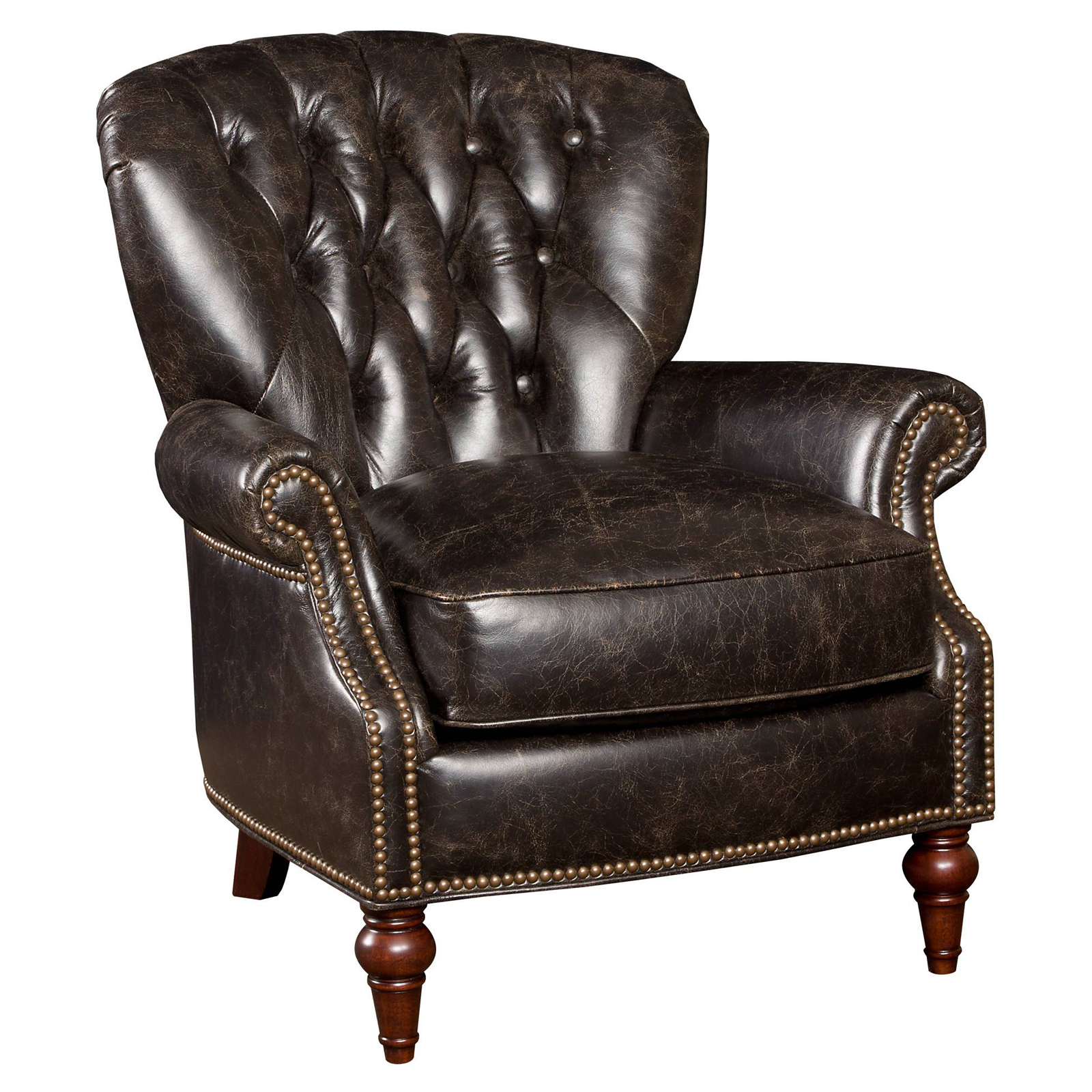 Leather Club Chair Hooker Furniture Pullman Coach Leather Club Chair Accent