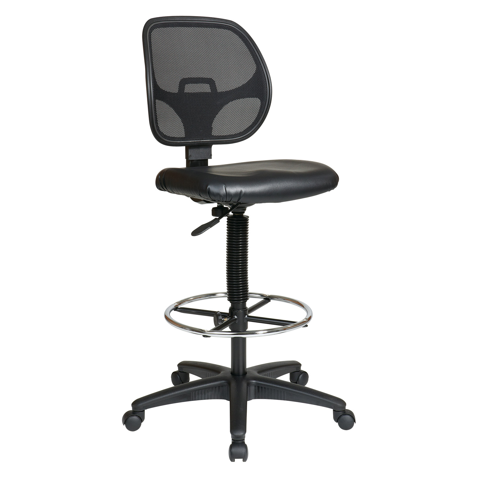 Adjustable Drafting Chair Office Star Work Smart Deluxe Mesh Back Drafting Chair