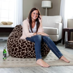 Cheetah Print Bean Bag Chair Hanging Ceiling Hook Gold Medal Large Animal Micro Suede