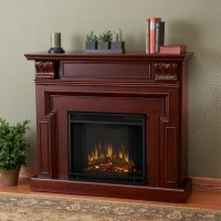 Real Flame Kristine Indoor Electric Fireplace - Mahogany ...