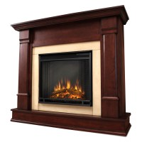 Real Flame Silverton Electric Fireplace - Dark Mahogany ...