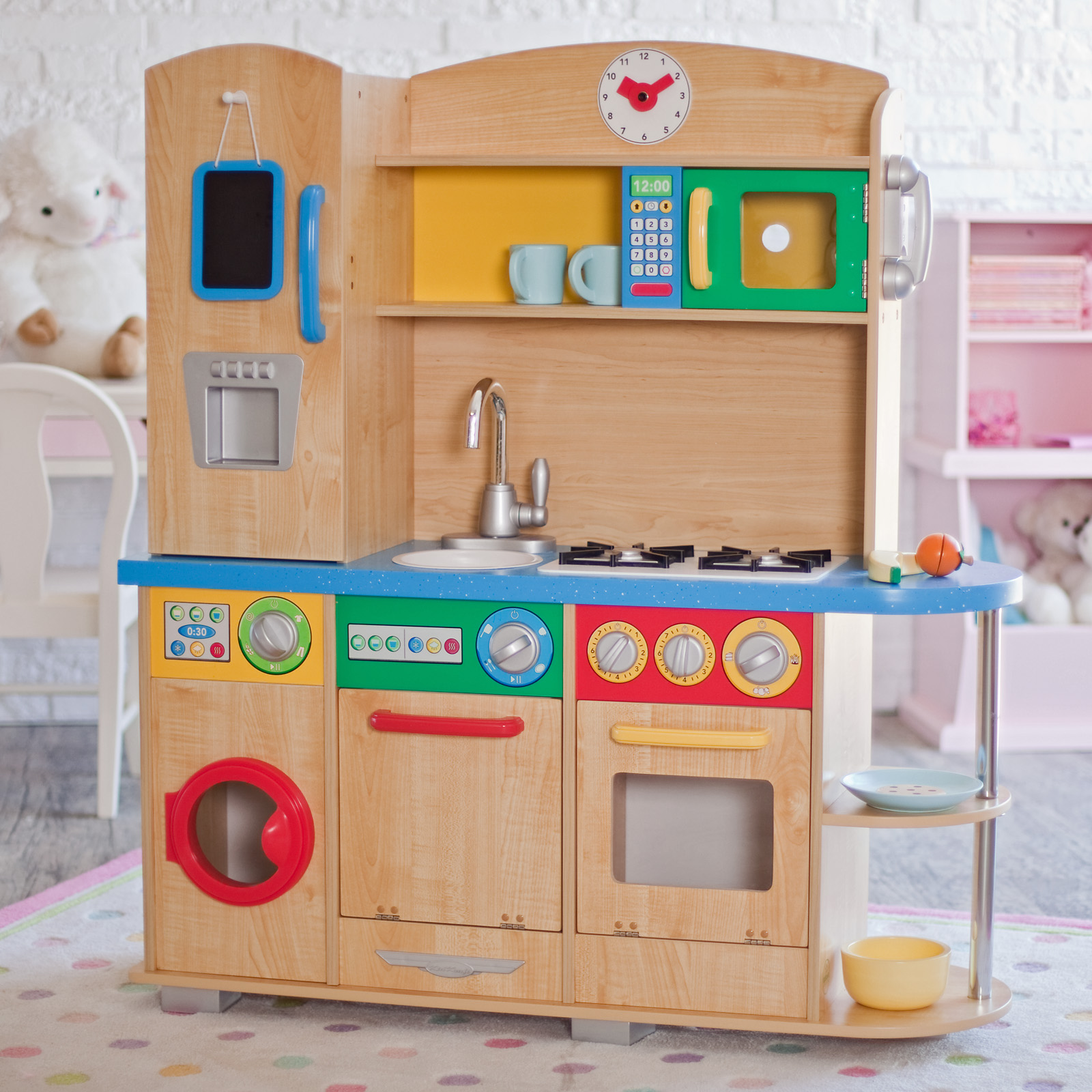 KidKraft Cook Together Play Kitchen  53186  Play Kitchens at Hayneedle