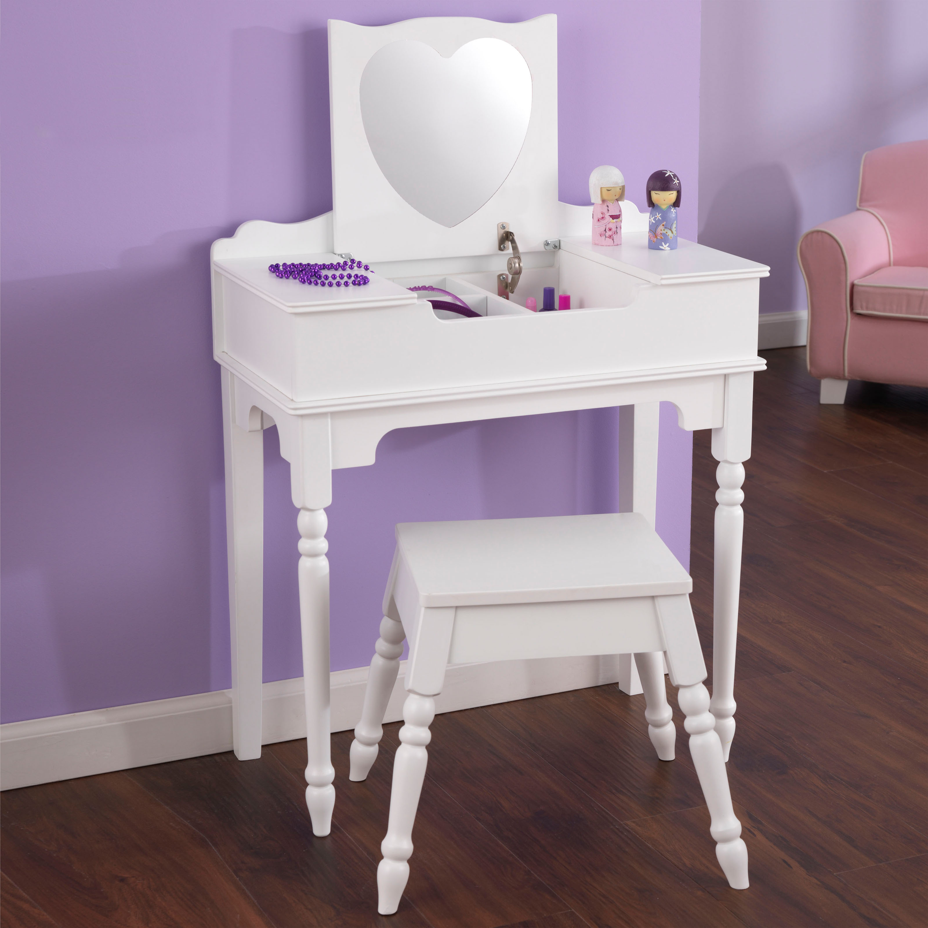 Kidkraft Heart Table And Chair Set Kidkraft Sweetheart Vanity And Stool 13030 Kids