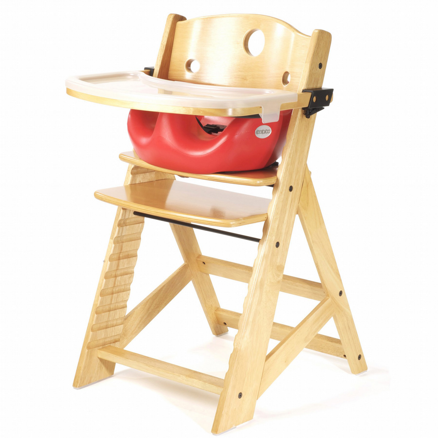 restaurant high chair with tray red covers amazon keekaroo height right infant seat and