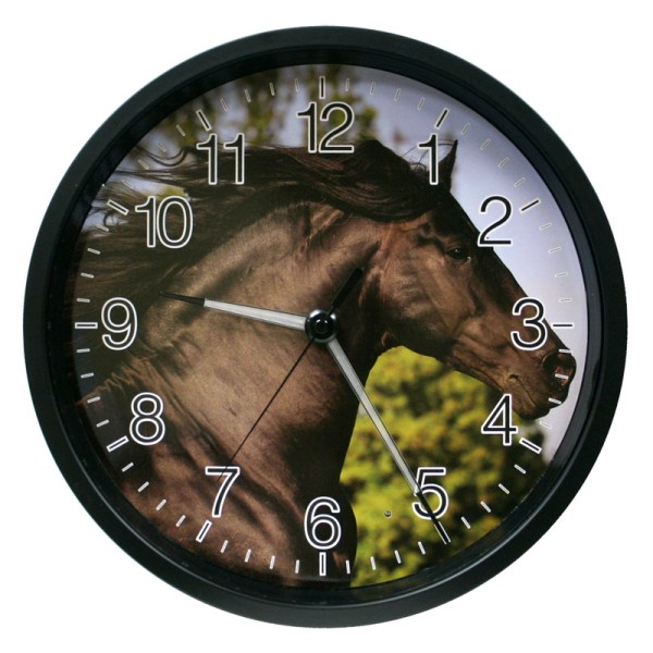 La Crosse Technology 403-312c -12 In. Lighted Hands Clock - Horse Design Wall Clocks