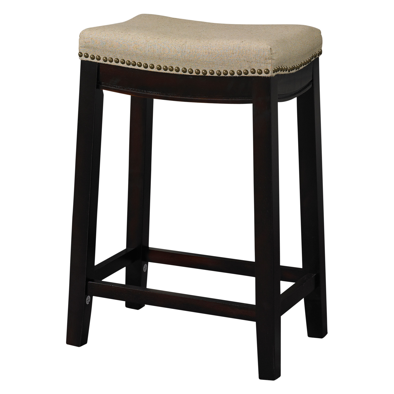 Linon Allure 24 in. Backless Counter Height Stool