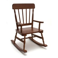 Lipper High Back Pine Childrens Rocking Chair at Hayneedle