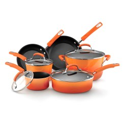 Kitchen Cookware Sets Cabinets Cost Rachael Ray Porcelain Enamel Ii 10 Piece Set