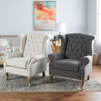 Belham Living Tatum Tufted Arm Chair with Nailheads ...