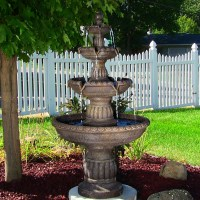 Sunnydaze Mediterranean 4 Tier Water Fountain - Fountains ...