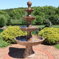 Sunnydaze Large Tiered Ball Outdoor Fountain - Fountains ...