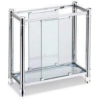 Chrome & Glass Contemporary Magazine Rack at Hayneedle