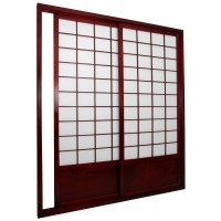 Oriental Furniture Shoji Double Sided Sliding Door Kit ...
