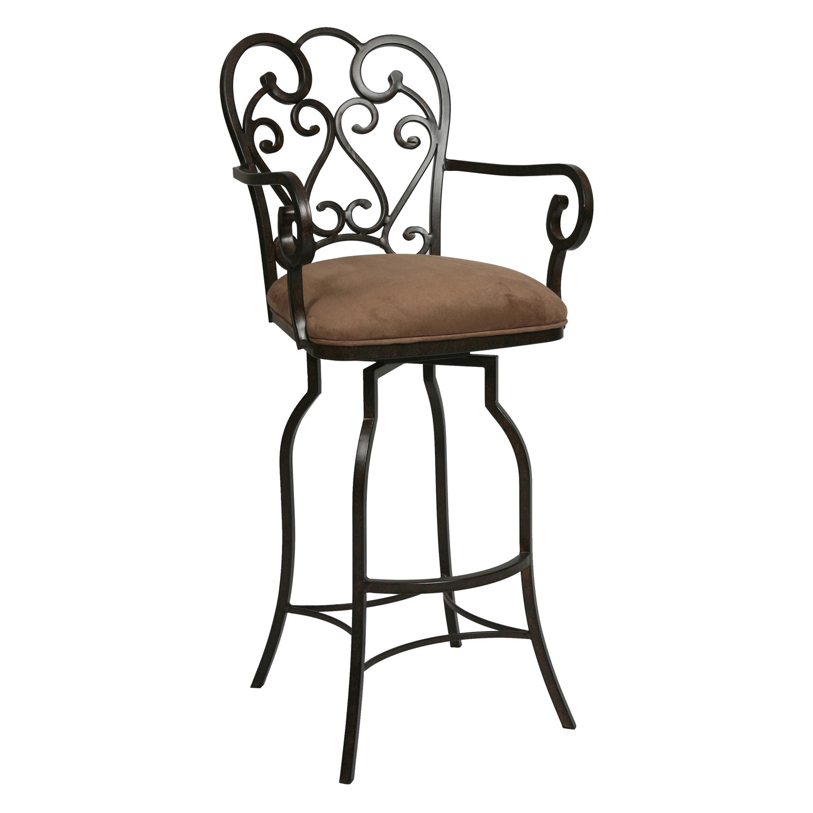tall patio chairs with arms swing chair kirkland impacterra 34 in magnolia swivel extra bar stool