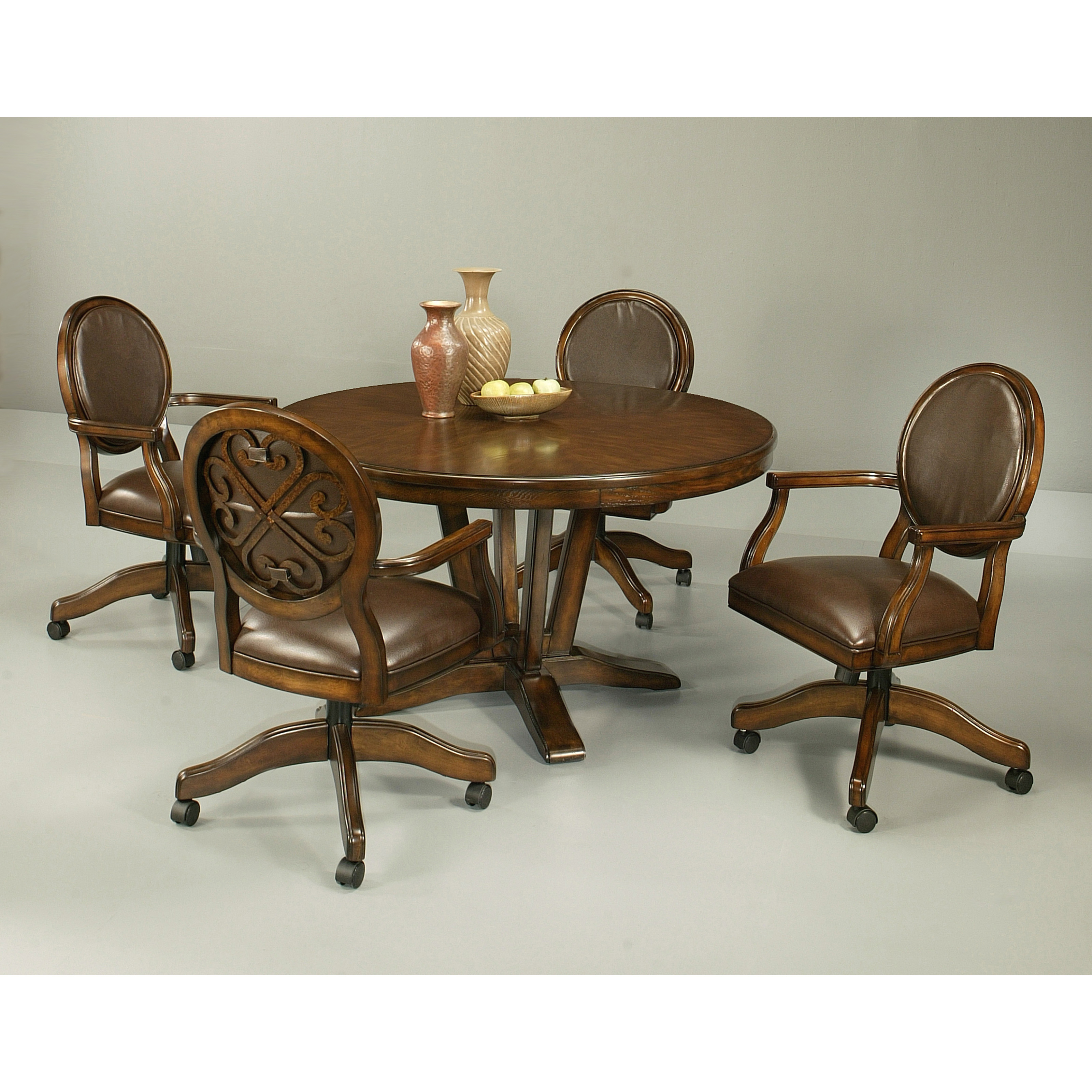 Dining Chairs With Casters Pastel Furniture Devon Coast 5 Piece Distressed Cherry