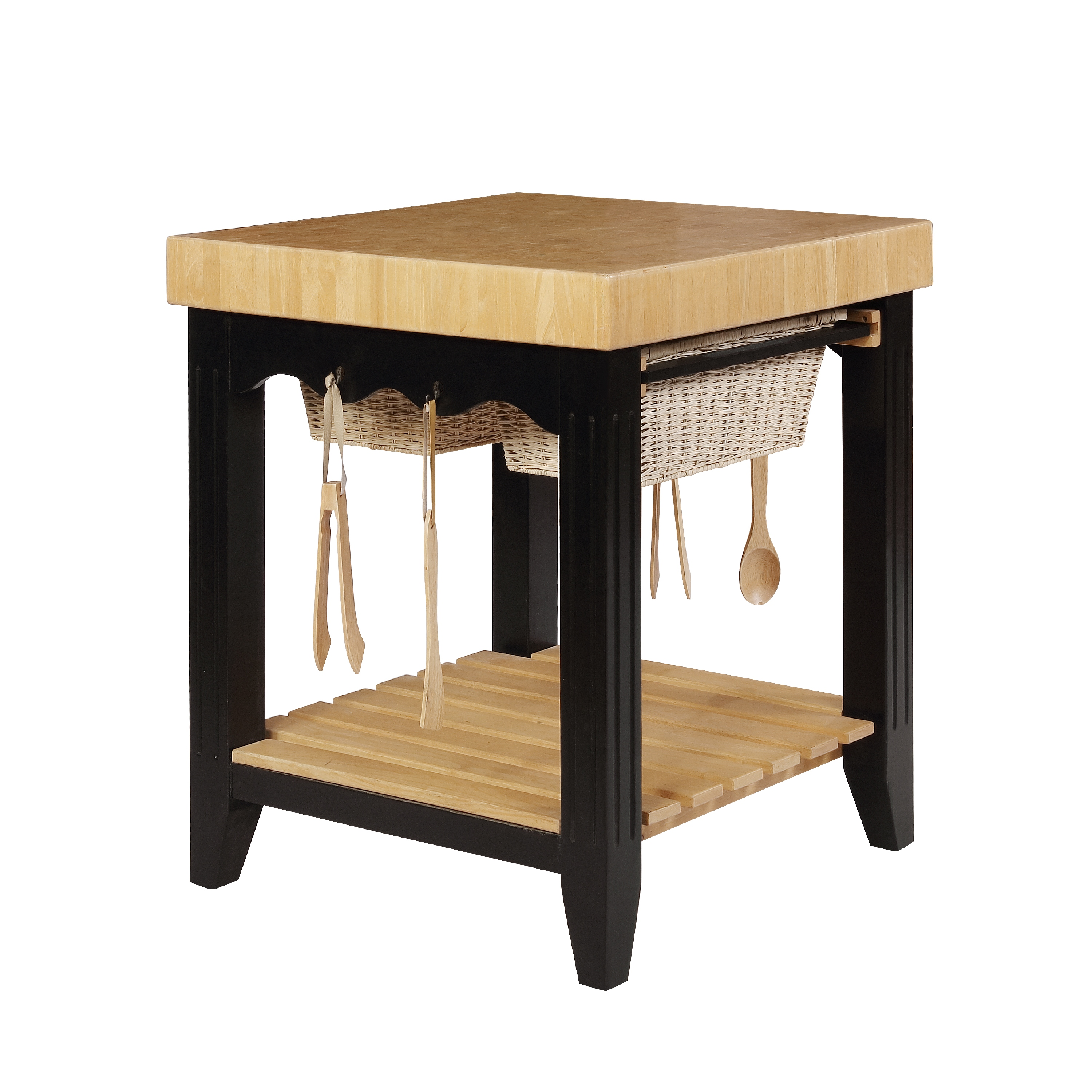 butcher block kitchen island cart remodel software powell color story antique black
