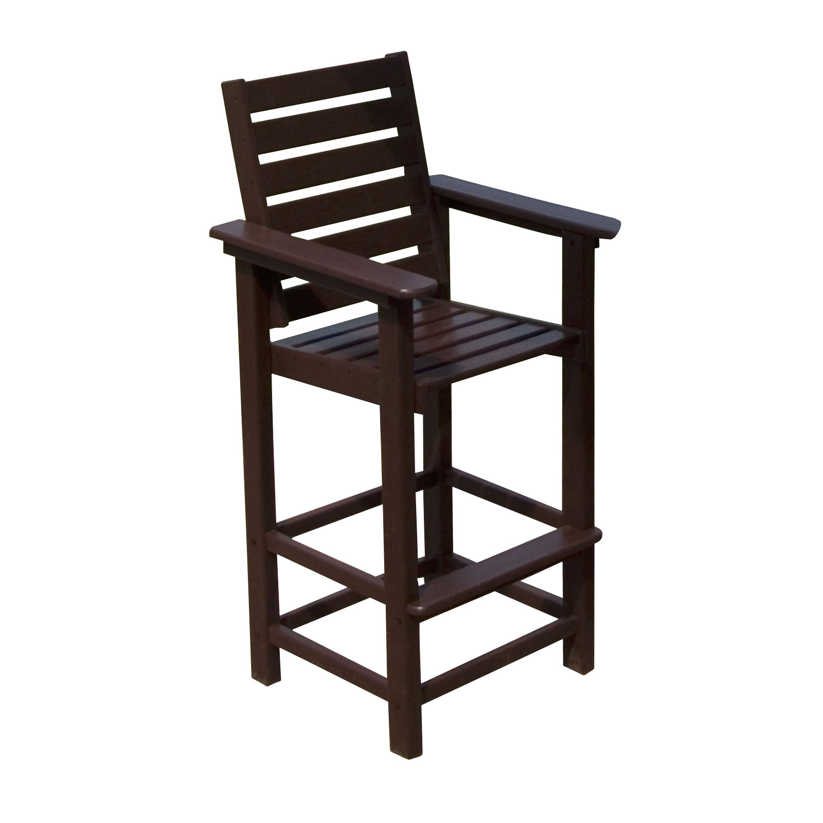 tall patio chairs with arms double hang around chair polywood captain recycled plastic 29 5 in bar stool