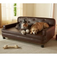 Enchanted Home Pet Library Sofa Pet Bed - Brown Pebble ...