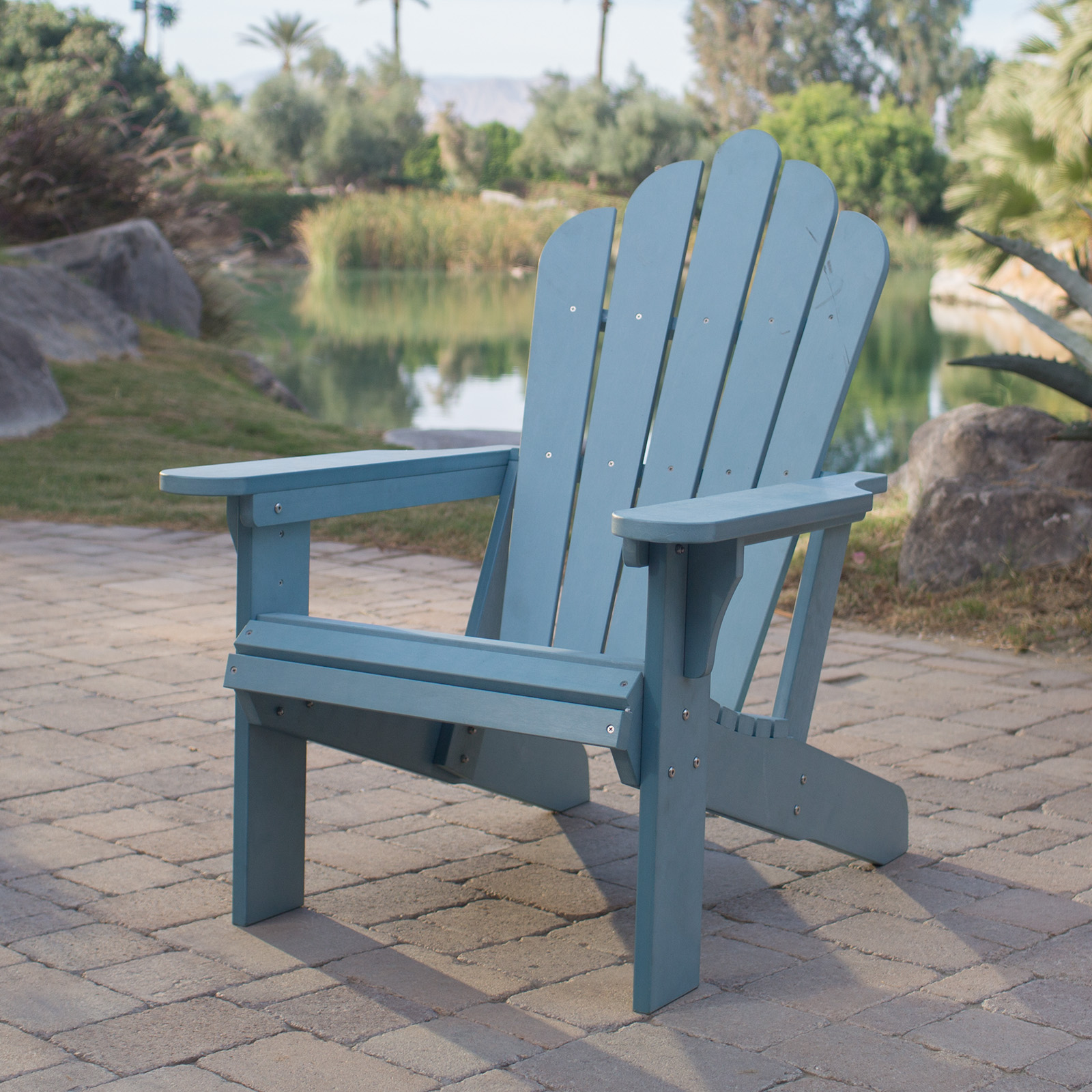 Blue Adirondack Chair Belham Living Seacrest Cottage All Weather Resin