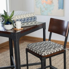 Dining Room Chair Seat Cushion Covers Outdoor Metal Mesh Folding Chairs Belham Living Printed Indoor