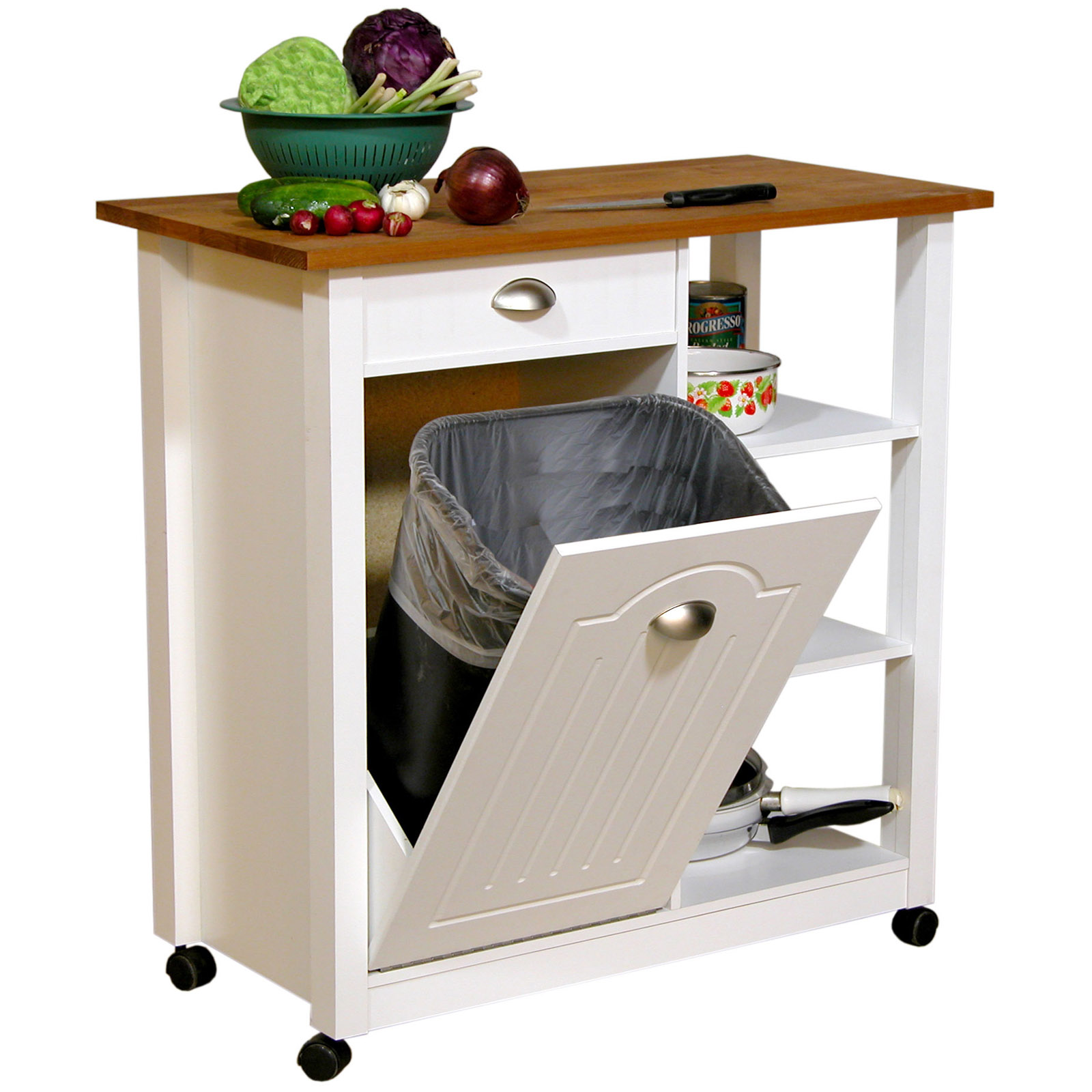 butcher block kitchen island cart free standing islands with seating venture horizon top trash