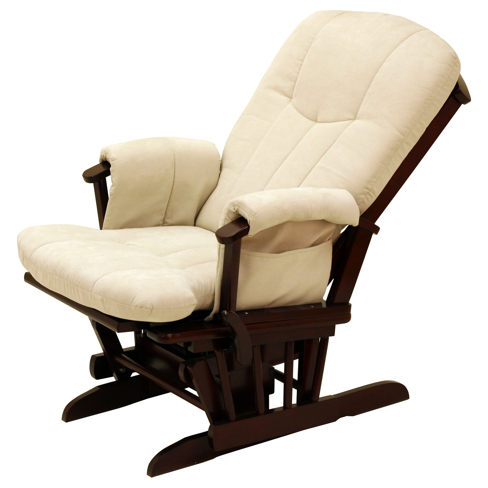 Gliding Rocking Chair Storkcraft Deluxe Reclining Glider Rocker Cherry Beige