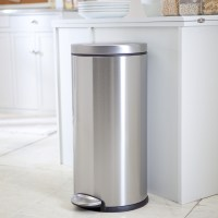 simplehuman Round Brushed Stainless Steel Step 8 Gallon