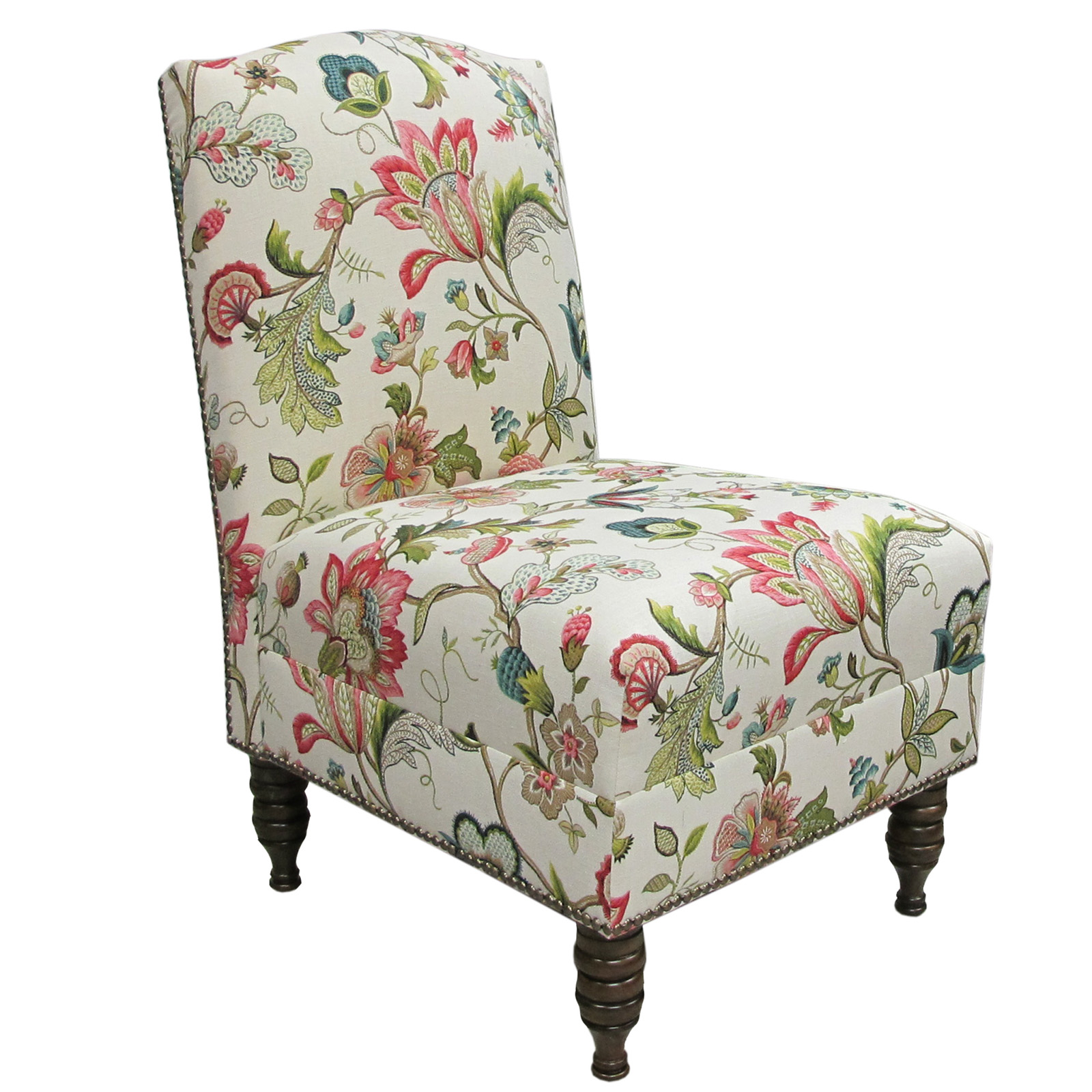 colorful accent chair cheap lift chairs brissac jewel armless nail button at