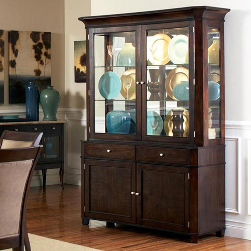 Steve Silver Marseille China Cabinet  Dark Cherry  China