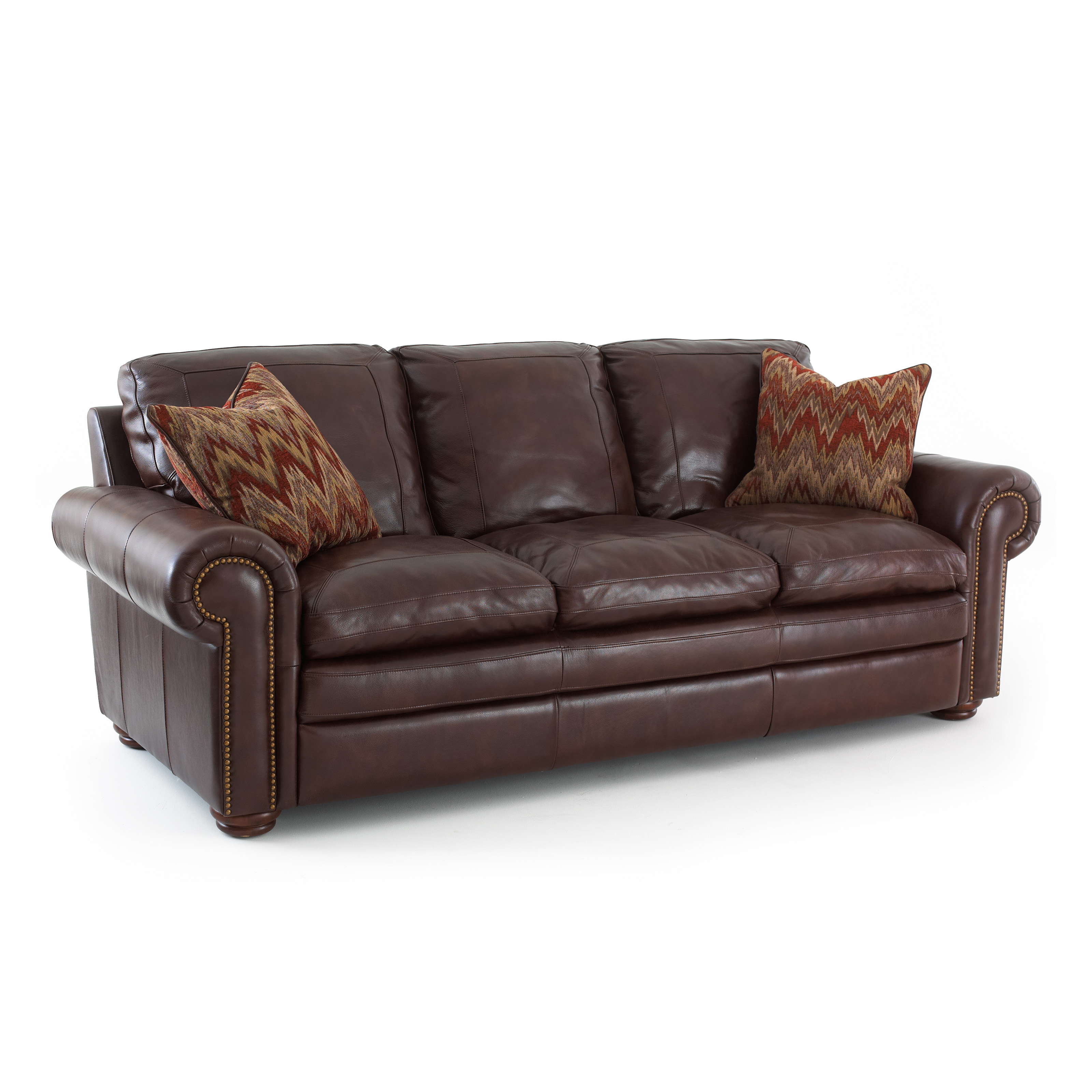 silver sofas brown colour sofa sets steve yosemite leather with 2 accent pillows