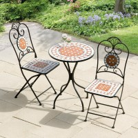 Transcontinental Outdoor Diamond Mosaic Patio Bistro Set