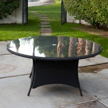 Patio Furniture Round Table with Umbrella
