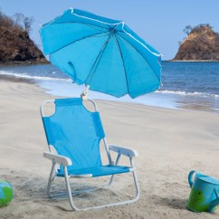 Beach Chairs For Toddlers Reading Sale Kids Blue Chair And Umbrella Outdoor At