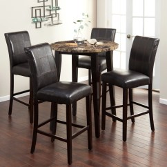 Bar Stool Baby High Chair Discount Dining Room Chairs Palazzo 5 Piece Round Bar-height Pub Set - & Tables At Hayneedle