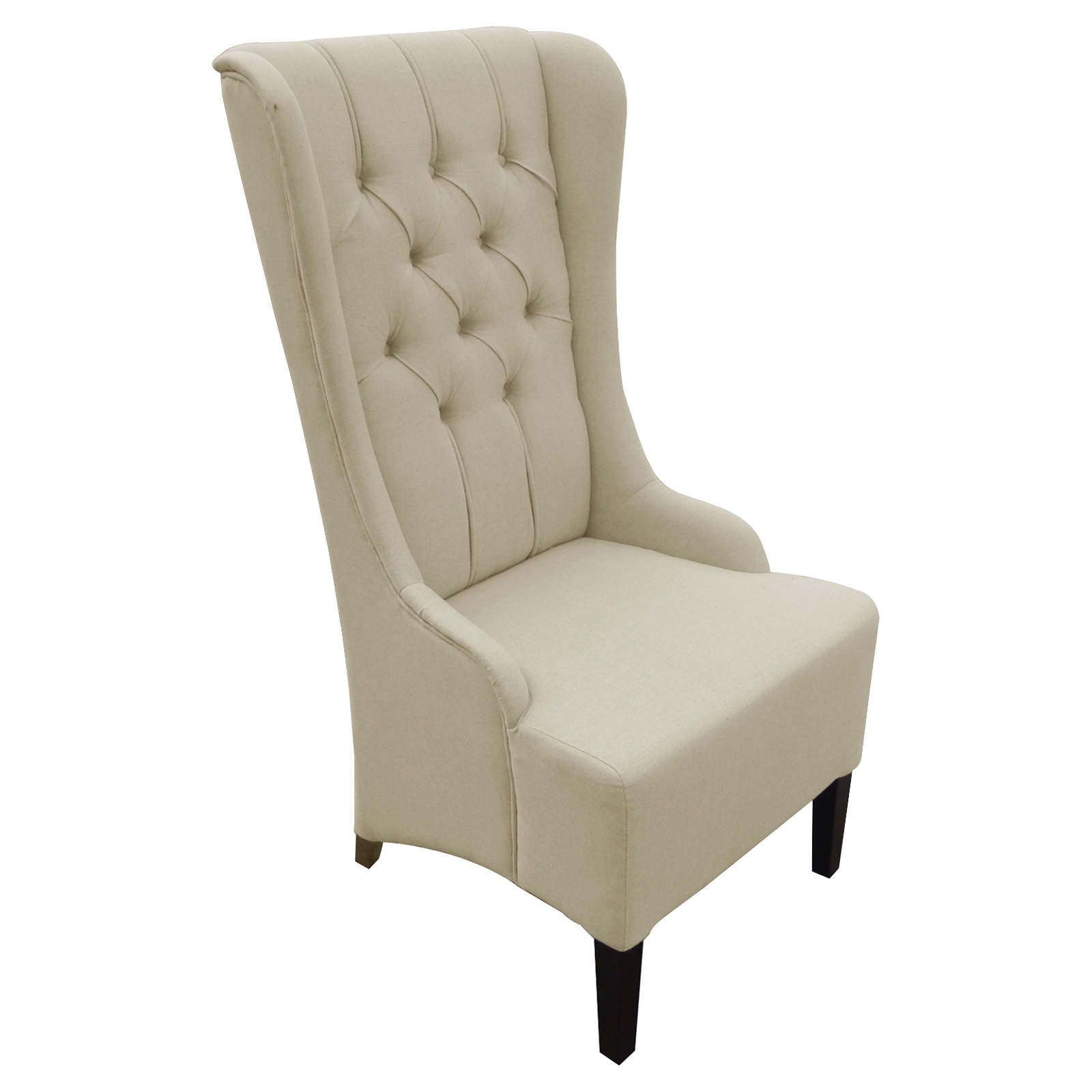 Accent Chairs Modern Baxton Studio Beige Linen Modern Accent Chair Accent