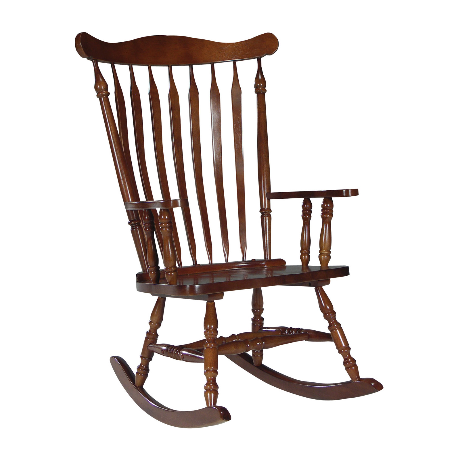 Rocky Chair International Concepts Colonial Rocking Chair Cherry