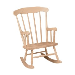 Unfinished Wooden Chairs For Toddlers Couch Armchair Covers International Concepts Boston Childrens Rocking