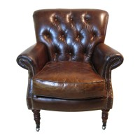 Bentley Tufted Leather Club Chair at Hayneedle