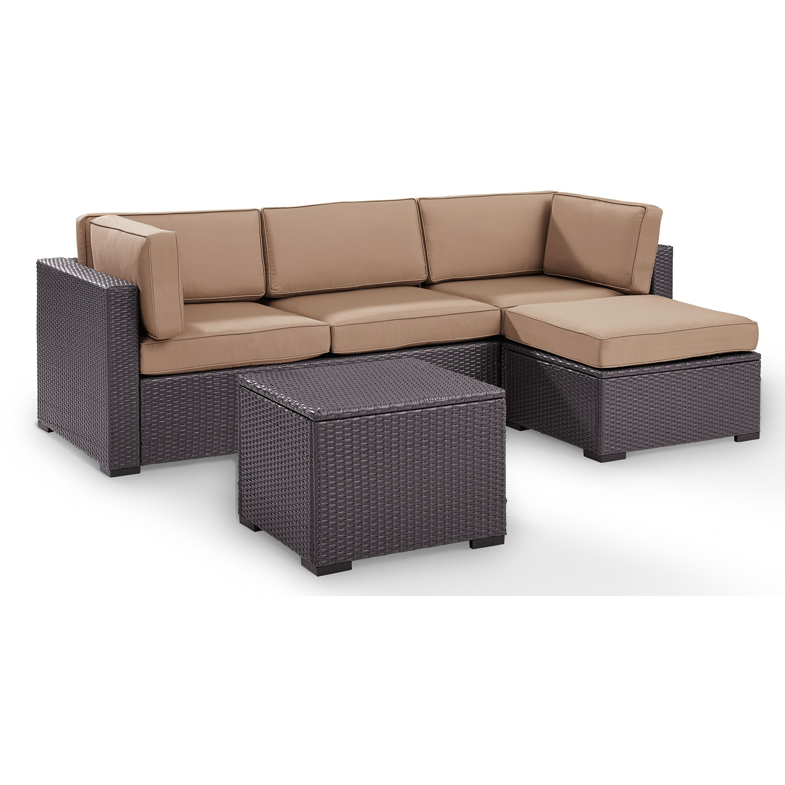 4 Piece Wicker Conversation Set Outdoor Patio Furniture