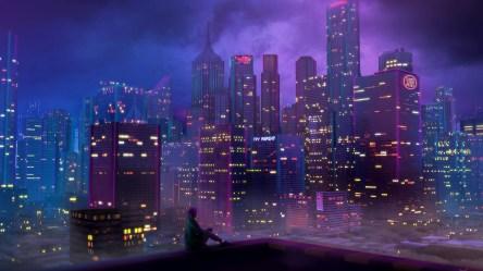 anime 4k neon wallpapers synth retrowave retro night synthwave laptop hd 80s wave desktop cyberpunk quality backgrounds 1080p pavlov alexander
