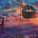 2560x1080 Anime Ferris Wheel Painting 2560x1080 Resolution Hd 4k Wallpapers Images Backgrounds Photos And Pictures