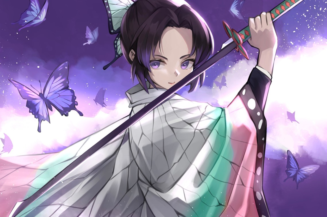 2560x1700 Demon Slayer Samurai Anime Girl 4k Chromebook Pixel Hd 4k Wallpapers Images Backgrounds Photos And Pictures