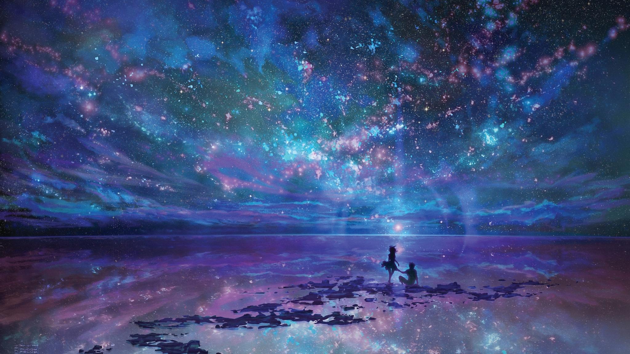 Cute Wallpapers For Girls  2048x1152 Fantasy Ocean Stars 2048x1152 Resolution Hd 4k