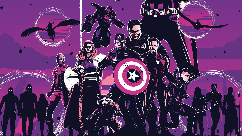 2560x1440 avengers endgame movie poster