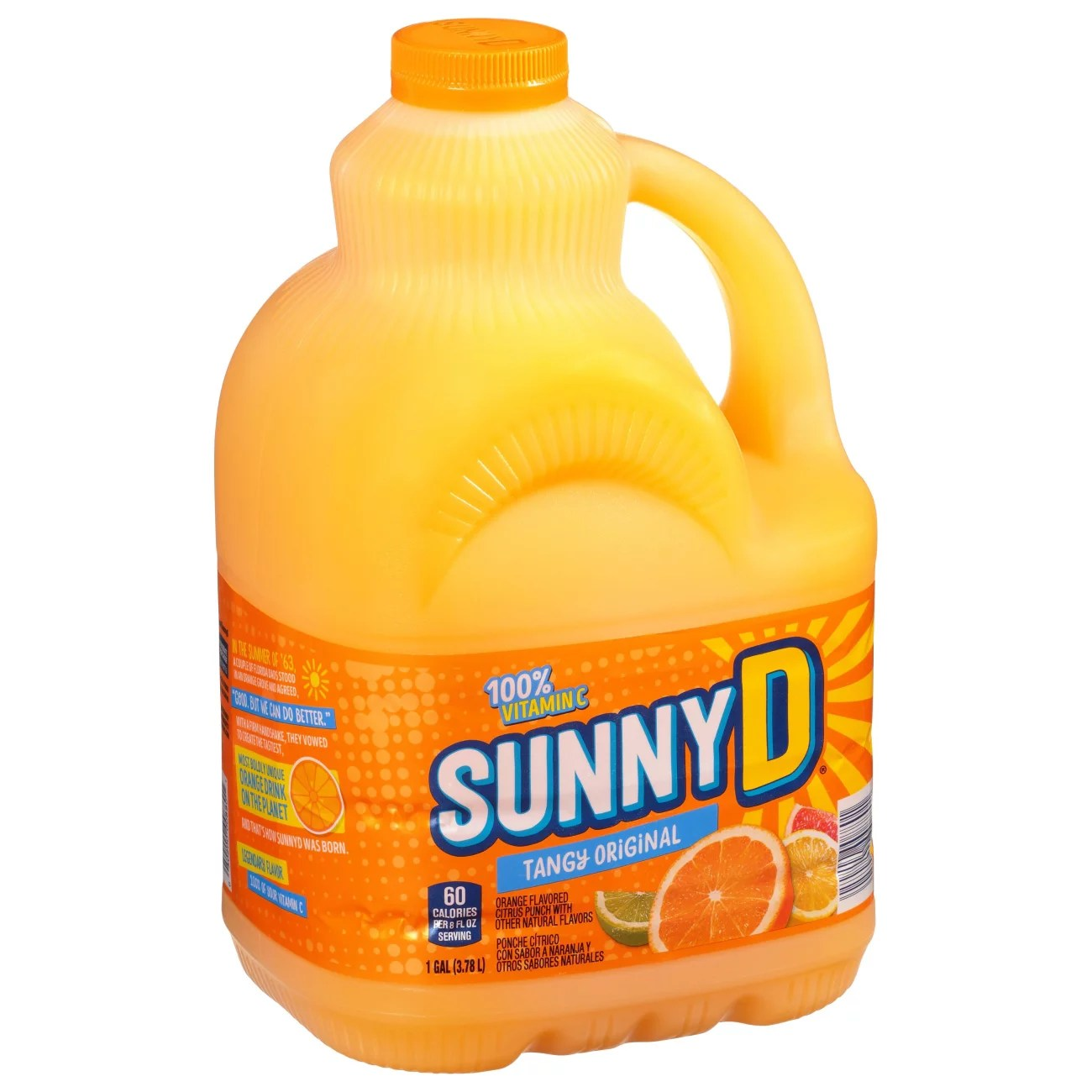Sunny D Calories : sunny, calories, Sunny, Tangy, Original, Orange, Flavored, Citrus, Punch, Juice, H-E-B