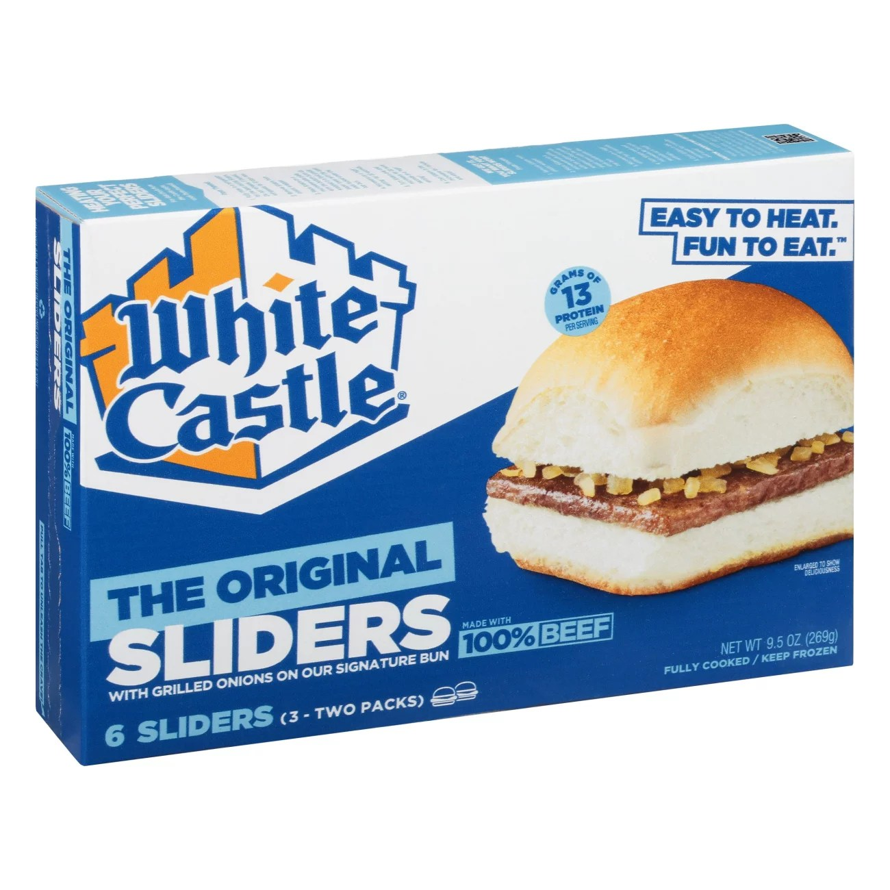 white castle microwaveable hamburgers