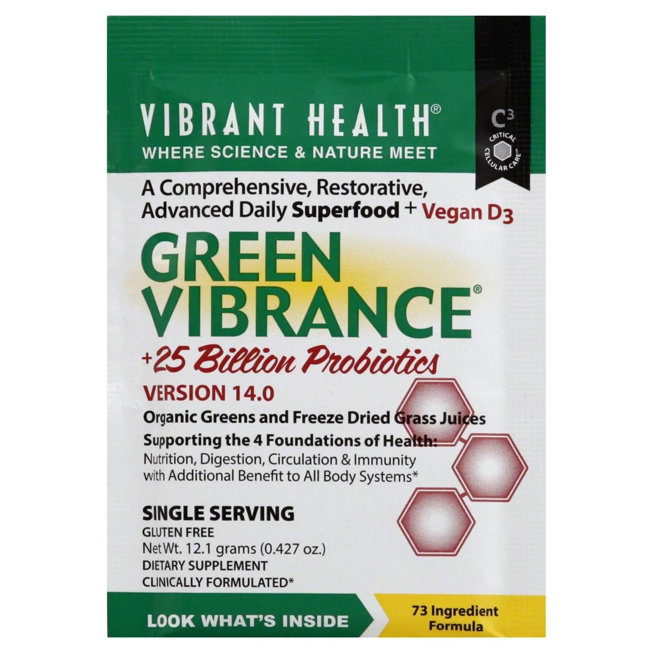Vibrant Health Green Vibrance Single Packet - Shop Diet ...
