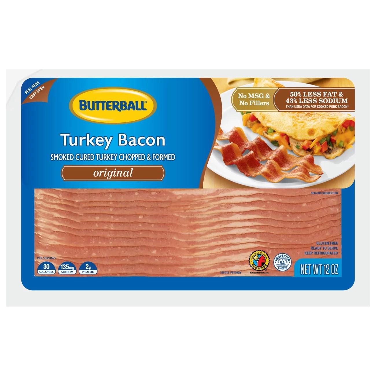 Butterball Original Turkey Bacon - Shop Bacon at H-E-B
