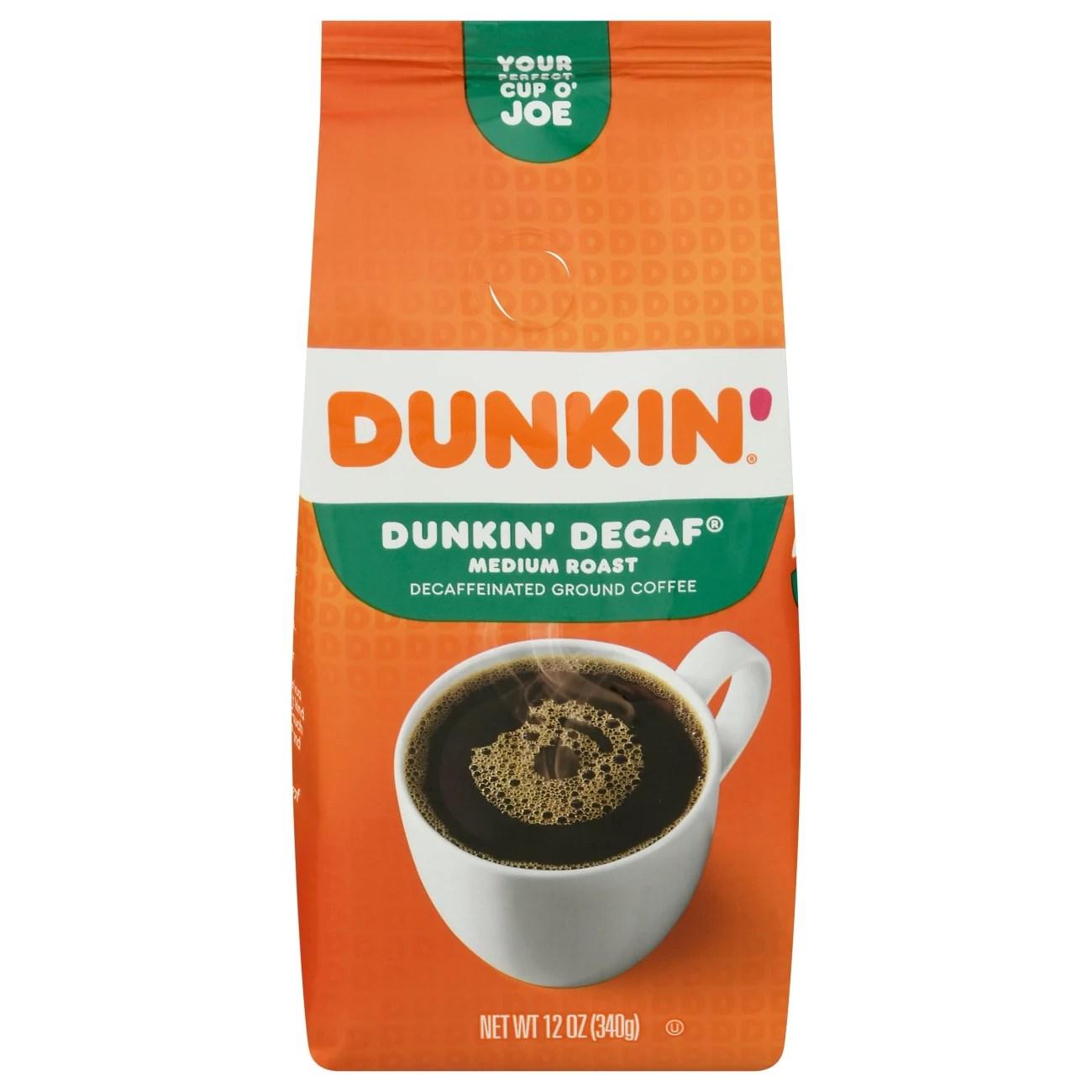 Dunkin' Donuts Dunkin' Decaf Medium Roast Ground Coffee ...